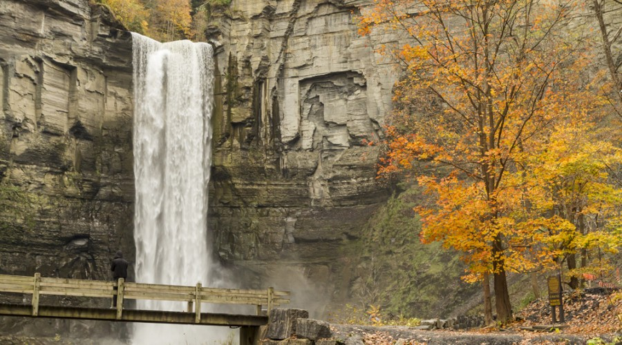 Autumn Waterfalls of the Finger Lakes, USA image