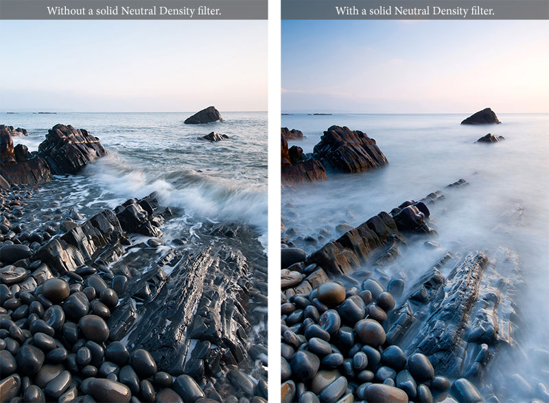 Comparison with and without ND filter
