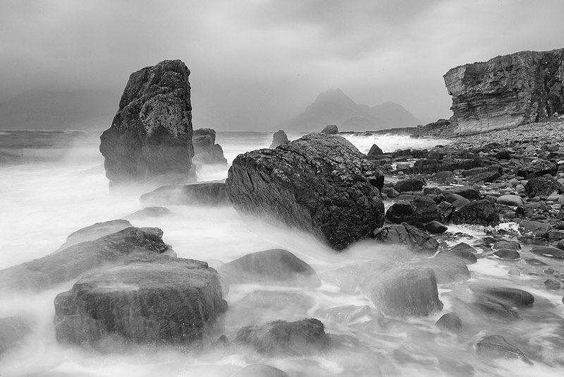 Elgol beach and view to Cuillins, Isle of Skye, Scotland