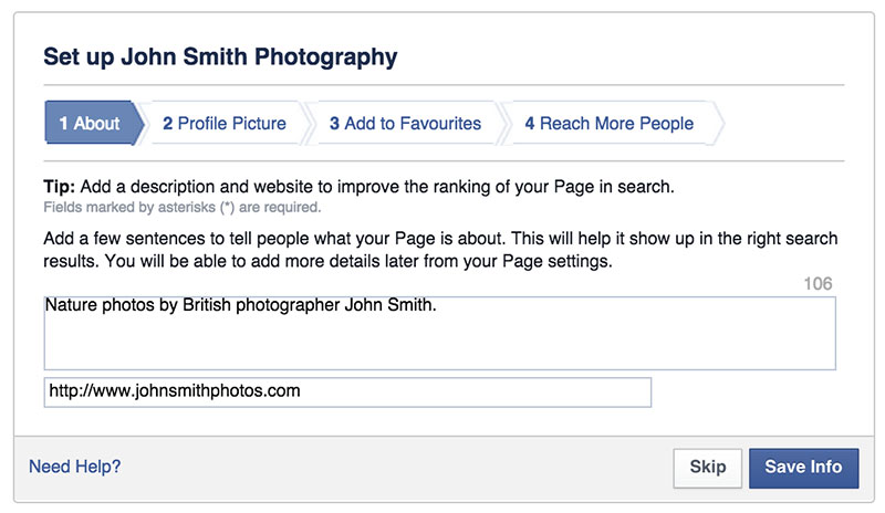 How to Set Up a Facebook Photography Page