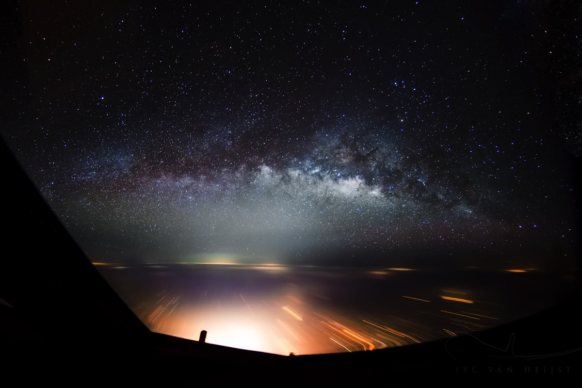 milky way over india