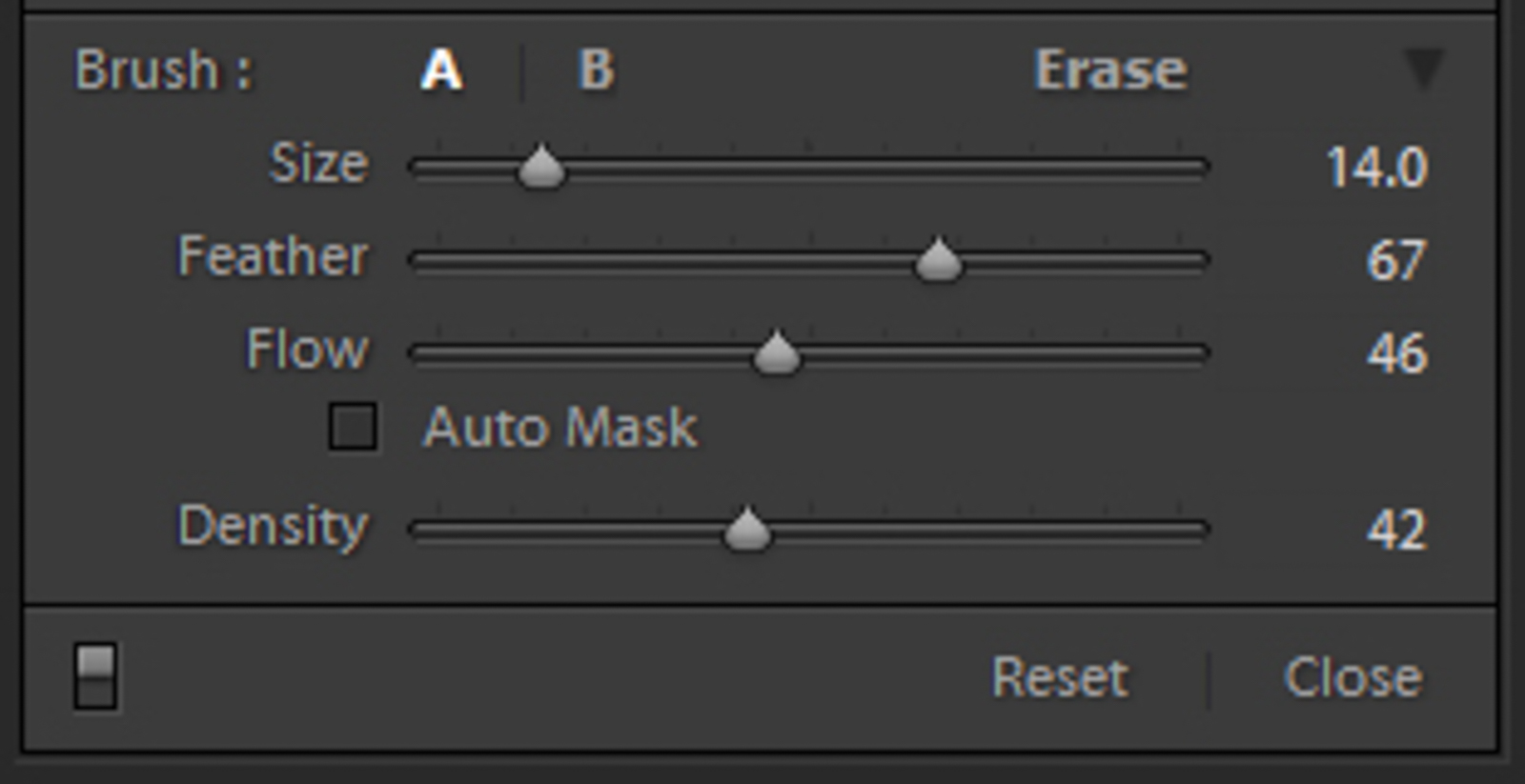 brush settings panel lightroom