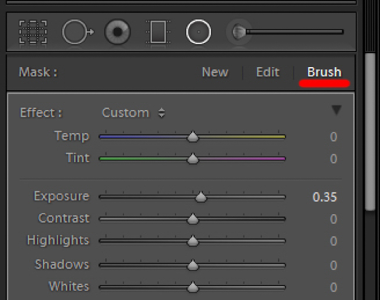 lightroom invert brush