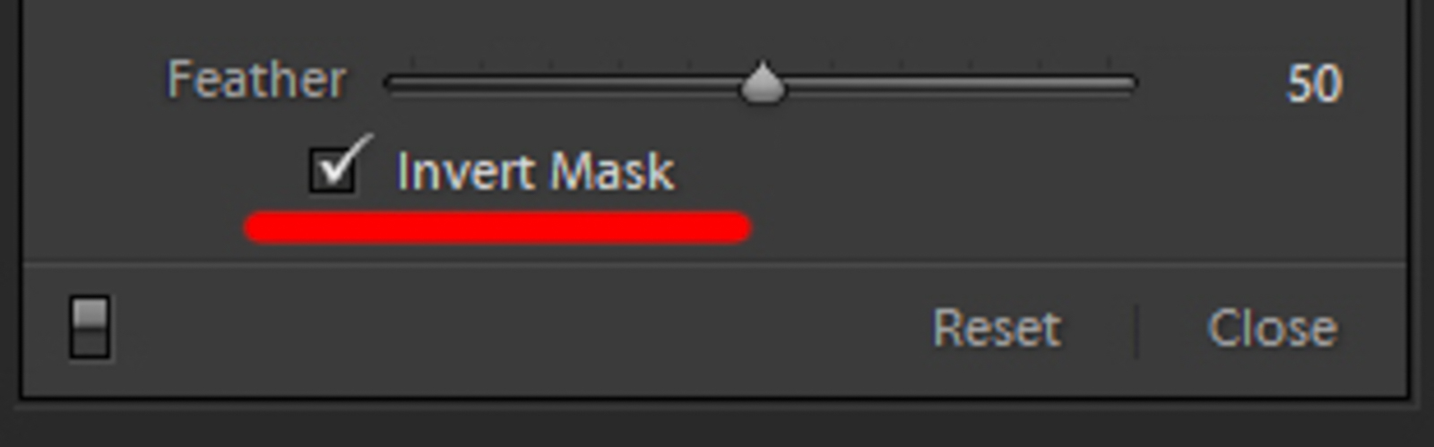 lightroom invert mask