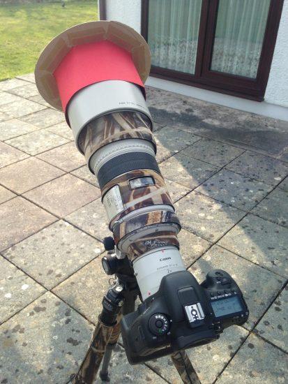 make a solar film filter telephoto lens