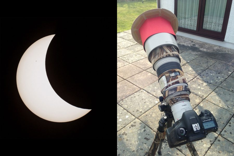 how to make a solar eclipse filter for a telepo lens | nature ttl