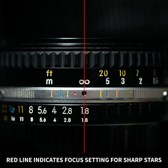how to get sharp stars in photos