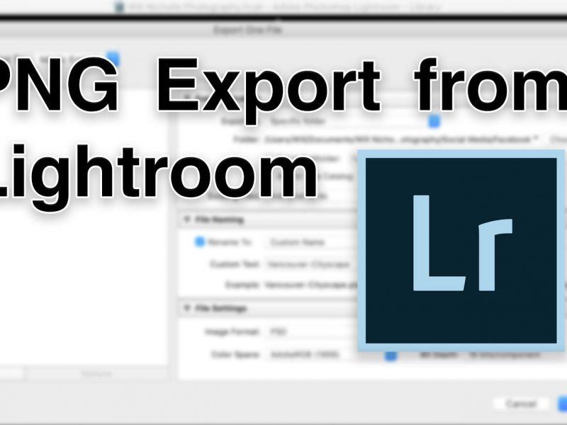 lightroom png export