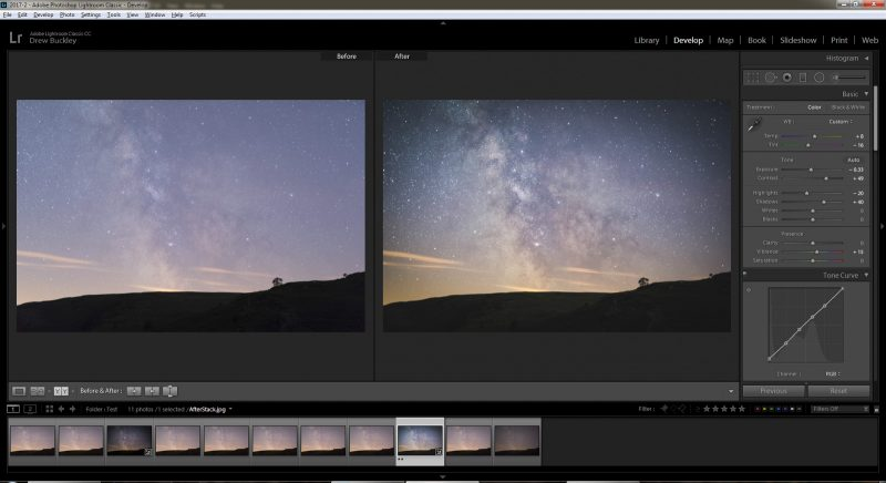 manually align stars in photoshop to reduce noise