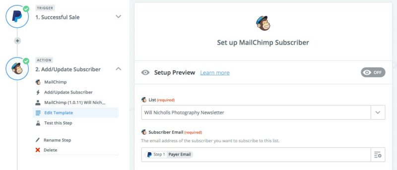 Zapier automate photography business