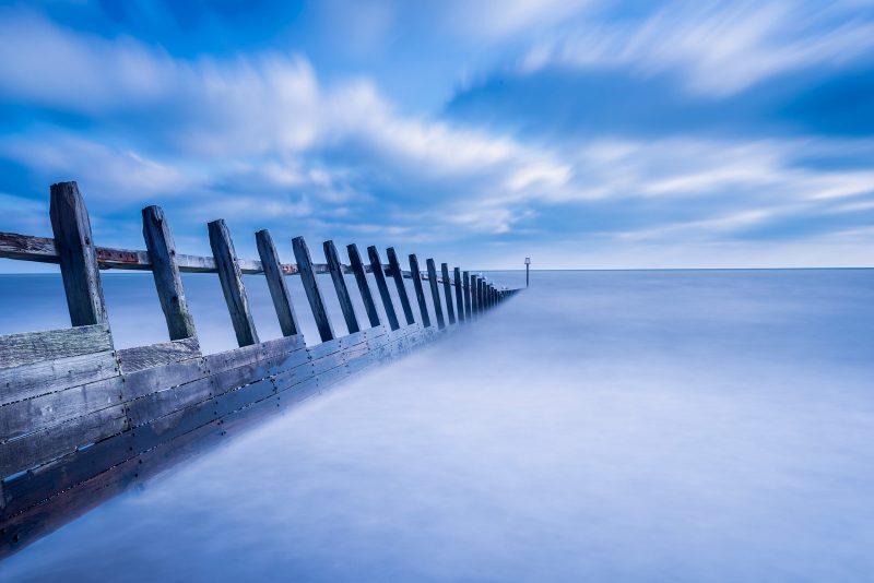 Slow shutterspeed shot of the sea