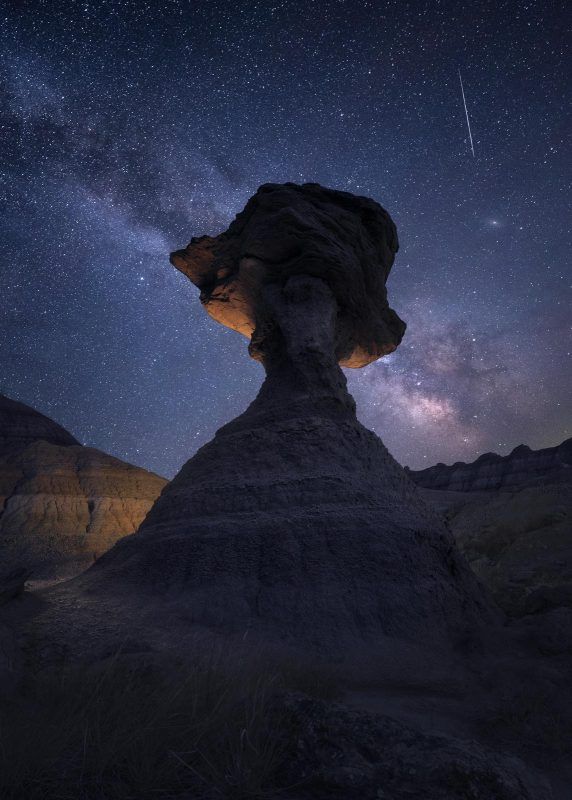 Foreground interest in an astrophoto